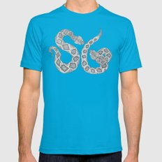 Society Snakes Mens Fitted Tee Teal SMALL