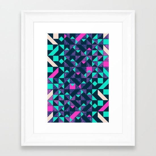 GEOMETRIC COLOUR POP Framed Art Print