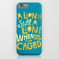 iPhone & iPod Case featuring Lion by Vaughn Fender