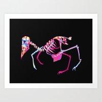 Bird Skeleton Art Print