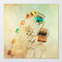 Head Over Heels carnival ferris wheel circus summer Canvas Print