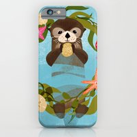 Sea Otter Holiday Card iPhone 6 Slim Case