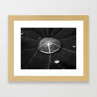 water drop XIV Framed Art Print