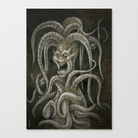 Medieval monster III Canvas Print