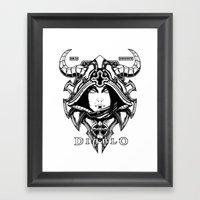 Diablo III. Demon Hunter Framed Art Print