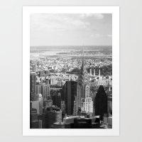 Black and White. Chrysler Building, New York. Art Print