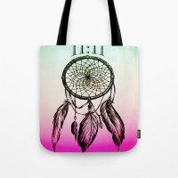 11:11 Eleven Eleven Spiritual Dream Catcher Tote Bag