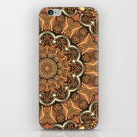 Molten Copper Mandala iPhone & iPod Skin