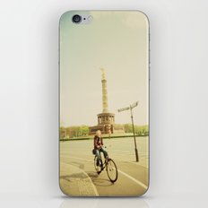 Woman on Bicycle in Berlin iPhone & iPod Skin