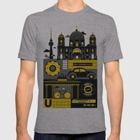 Berlin Mens Fitted Tee Athletic Grey SMALL