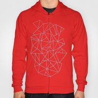 Abstraction Outline Sky Blue Hoody