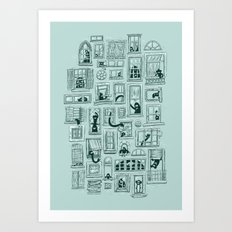 I've Seen Strange Things in City Windows Art Print