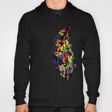 Colorful feather Hoody