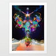 Fractalised Duality Art Print