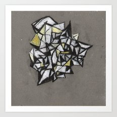 Yellow Structure Art Print