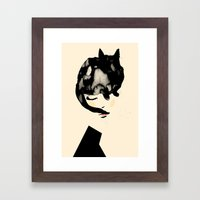 Cat Girl Framed Art Print