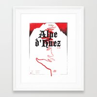 Alpe d'Huez 2, More Menace! Framed Art Print