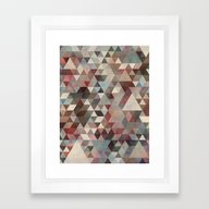 Framed Art Print featuring Triangles Rusty by Francisco Valle