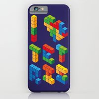 iPhone & iPod Case featuring I Heart Tetris by Tshirtbaba