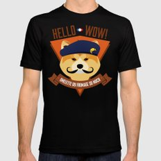 Hello wow, Omelette du Fromage So Much Mens Fitted Tee SMALL Black