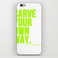 Carve Your Own Way iPhone & iPod Skin