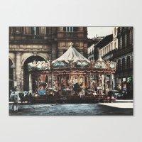 The Carousel II Canvas Print
