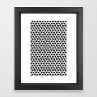 Drawn Triangles 02 Framed Art Print