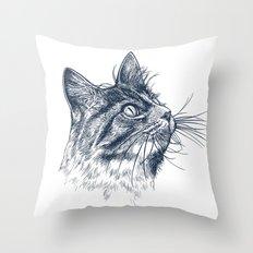 Cat Portrait Throw Pillow