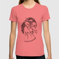 A kind of parrot Womens Fitted Tee Pomegranate SMALL