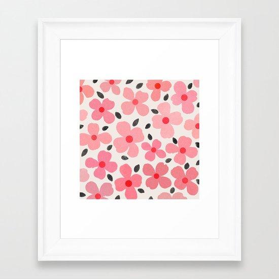 Dogwood Vintage Pink Framed Art Print