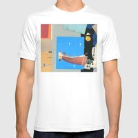 Aquatic Huntsman Mens Fitted Tee White SMALL