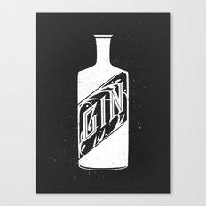 Gin - White Canvas Print