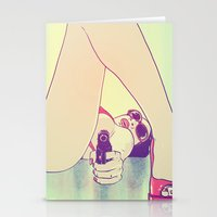 Girl With Gun 2 Stationery Cards