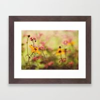 Lemon Drop Flower Box Framed Art Print