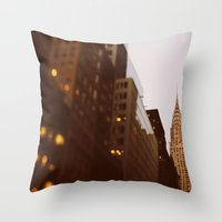 Bright Lights, Big City Throw Pillow