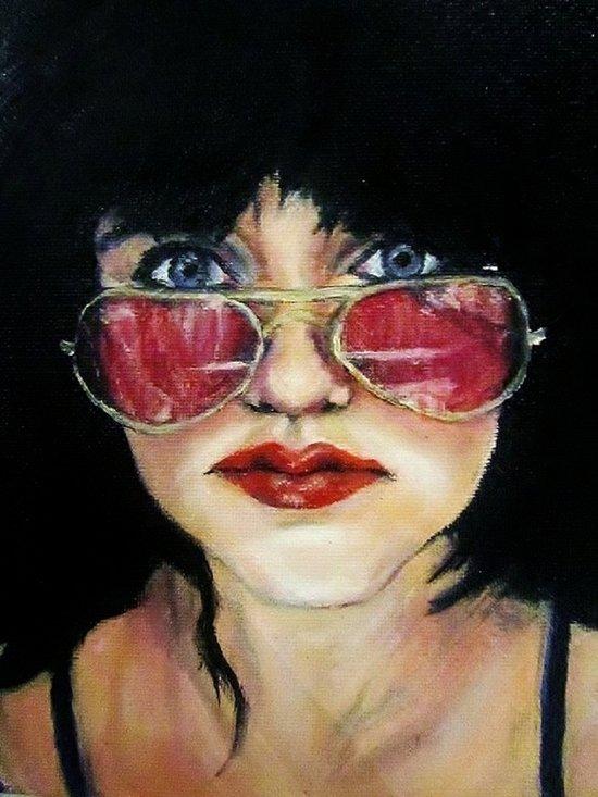 Sunglasses in the Dark Art Print