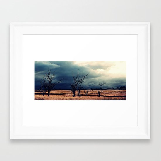 The relief of an Aussie drover Framed Art Print