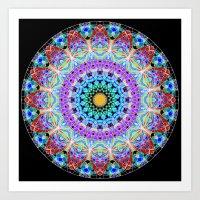 Tribal Mandala G387 Art Print