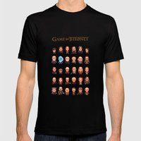 Game Of Thrones :: Pixel… Mens Fitted Tee Black SMALL