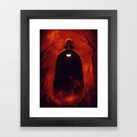 Heart Vader Framed Art Print