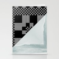 waves/grid #9 Stationery Cards