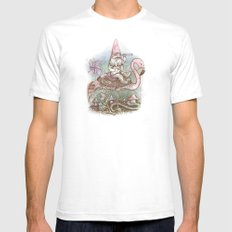 Journey Through The Garden SMALL White Mens Fitted Tee