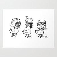 Star Wars Ducks  Art Print