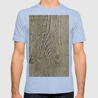 Unrefined Wood Grain Mens Fitted Tee Athletic Blue SMALL