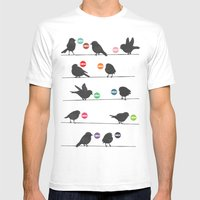 Birdsong_Gosh by Garima & Rachel  Mens Fitted Tee White SMALL