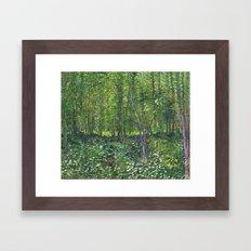 Vincent Van Gogh - Trees… Framed Art Print