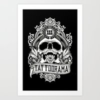 logo Art Prints featuring Logo by Tattoorama