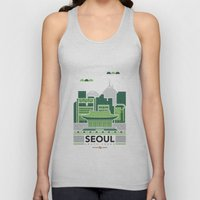 City Illustrations (Seoul, South Korea) Unisex Tank Top