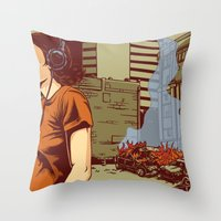 Locals Only - Portland, … Throw Pillow