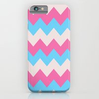 iPhone & iPod Case featuring Cotton Candy Chevron by Valerie Hoffmann